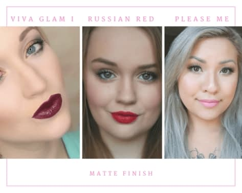 Viva Glam I, Russian Red, Please Me - MAC Matte Lipstick Finish